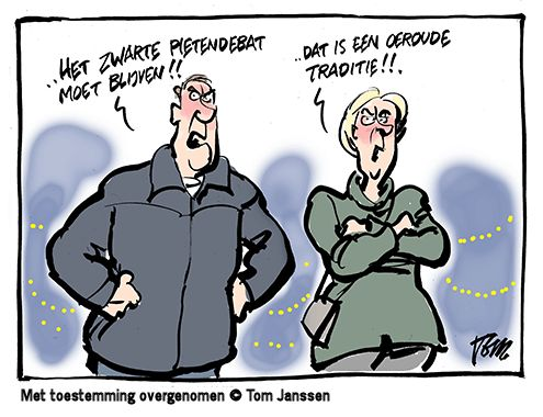 dialoog racisme cartoon
